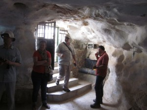 This is the cave on the property where Daher Nassar (Daoud's grandfather) once lived.