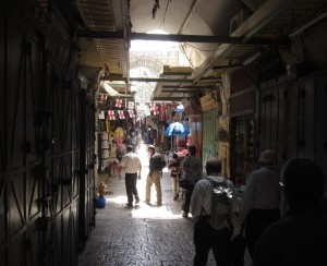 The streets of the Old City are covered markets.