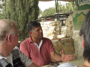 Daoud Nassar described his efforts to maintain the claim to his family's farm.