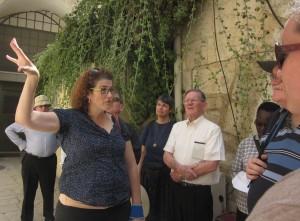 Hana Bendcowski led us on a walking tour of the Christian Quarter.