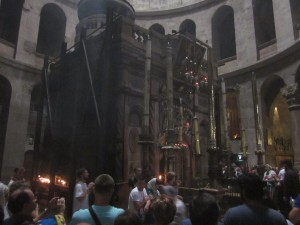 The Holy Sepulchre itself is an ancient structure at the site of the tomb.