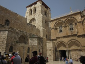 The Church of the Holy Sepulchre has only one door.