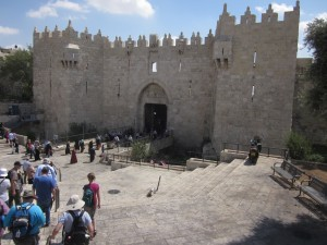 The Damascus Gate leads to the Muslim Quarter.