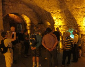We saw the underside of the bridge to the Temple Mount.
