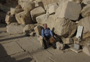 In 70 AD, huge stones were pulled down by the Romans.