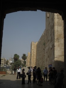 Jaffa Gate used to connect Jerusalem to Haifa.