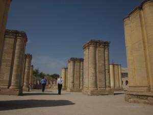 The palace of Khirbat al-Mafjar was built around 743 AD.