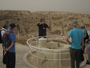Elias Ghareeb, our guide, showed us a model of Herodion at the fortress site.