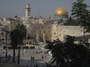 The Western Wall of the Jerusalem Temple is a place of prayer.