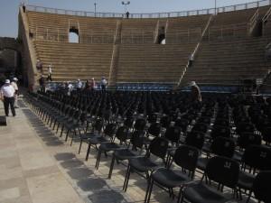 Caesarea Maritima's theater hosts concerts today.