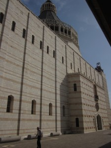 The basiiica is built where Mary heard that she would bear a son.