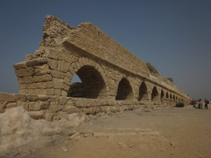 Caesarea's water came by aquaduct.