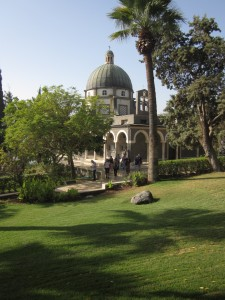 Beatitude Church overlooks the Sea of Galilee.