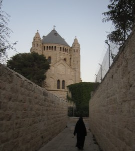 Benedictine monks reside at the Dormition Abbey.