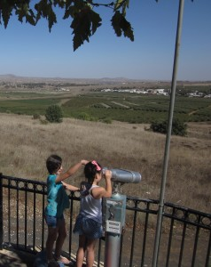 From Avital Park we could see Syria,