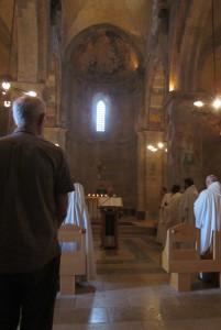 Monks and nuns sang together.