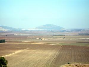 Mount Tabor can be seen from Tel Megiddo (Joe Freeman photo).