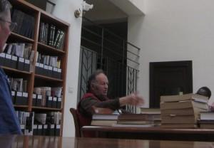 Hintlian spoke in the Library.