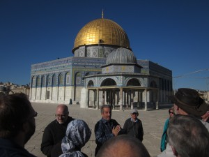 Our guide described the domes of the Sanctuary.