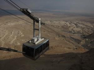 The gondolar returns from the Masada mesa.