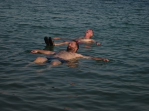 It's easy to float in the Dead Sea.