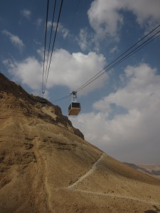 """The tram rises above the """"Snake Trail."""""""