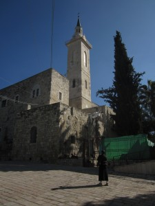 A church marks the birthplace of John the Baptist.