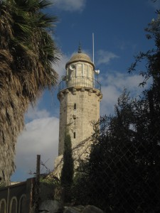 A minaret tops the site of the ascension.