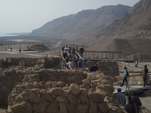 Archaeological ruins lie near the caves.