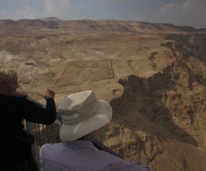 Below Masada are the excavated remains of a Roman camp.